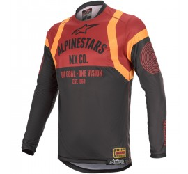 MAILLOT ALPINESTARS RACER FLAGSHIP NOIR ORANGE BORDEAUX