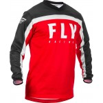 MAILLOT FLY RACING F16 ROUGE NOIR BLANC
